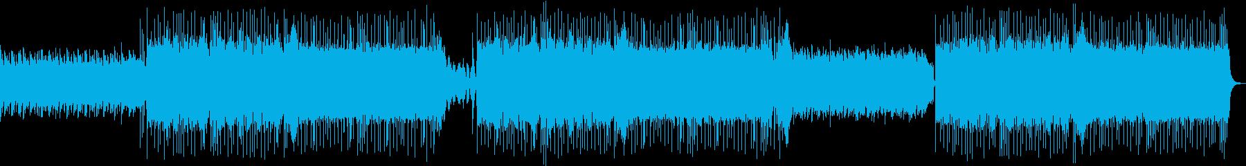 映画のOPやEDの様な重いギターリフの曲の再生済みの波形