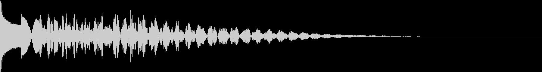 ピ↑ロロ↓(木琴スライド)高い→低いの未再生の波形