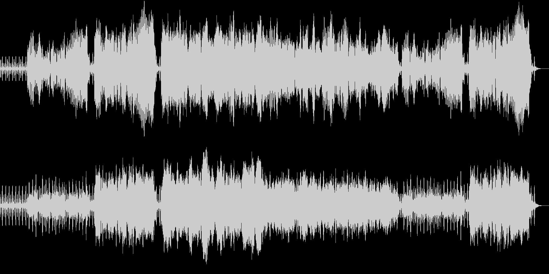 深い森にいるような木管五重奏の楽曲です。の未再生の波形