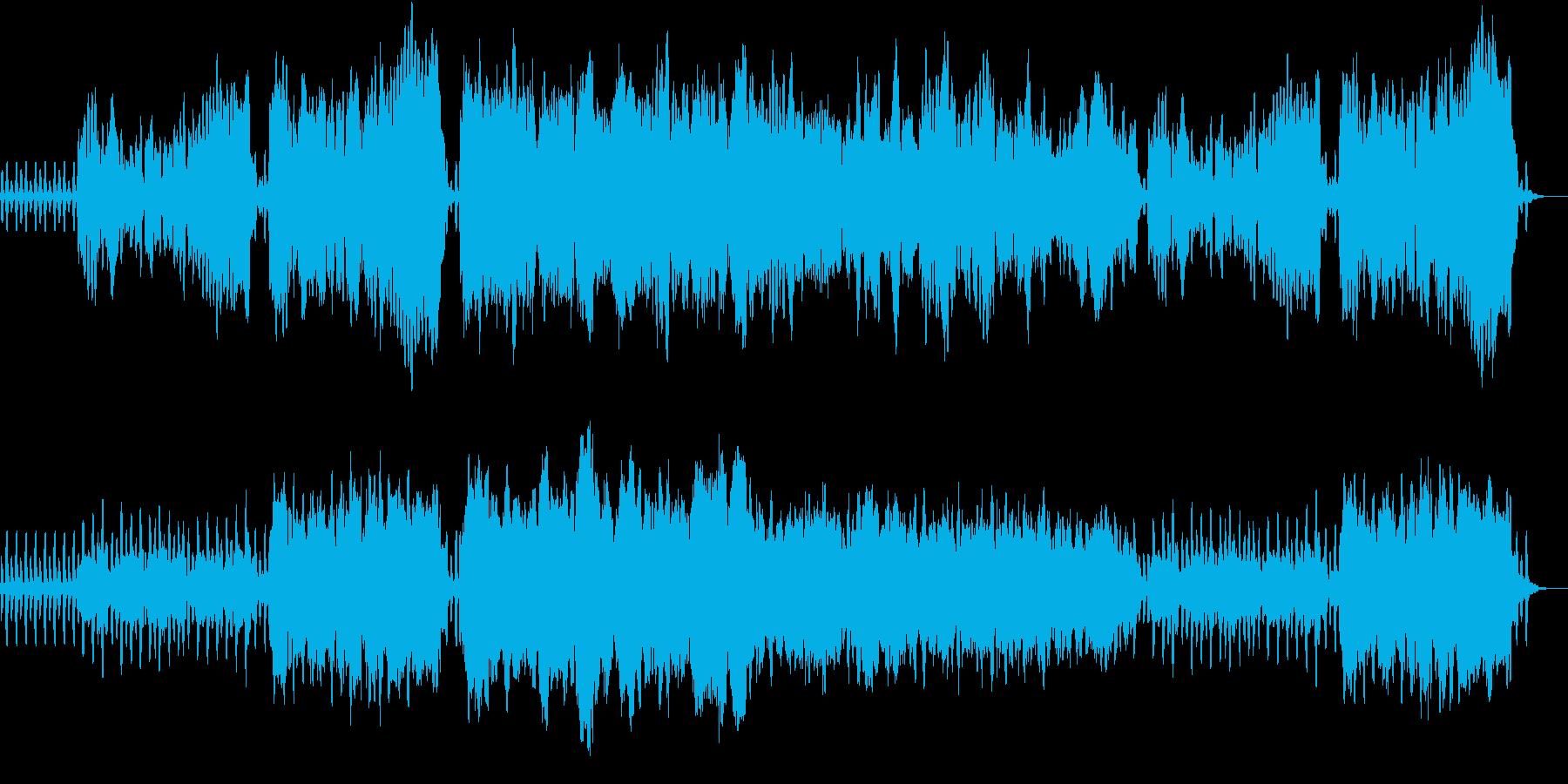 深い森にいるような木管五重奏の楽曲です。の再生済みの波形