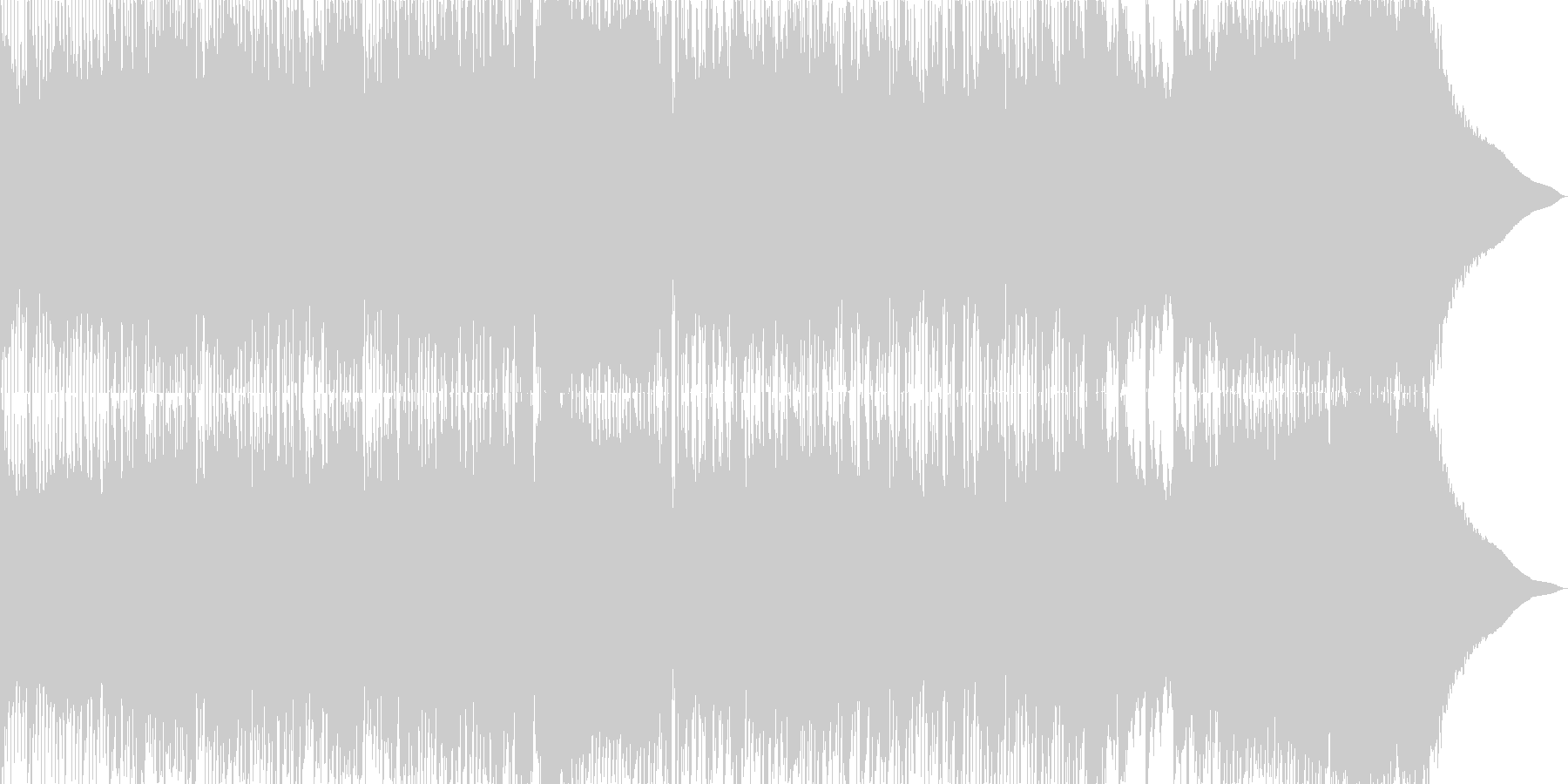 直線的でシンプルなリズムのロックの未再生の波形