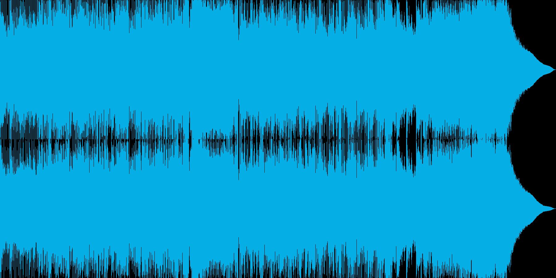 直線的でシンプルなリズムのロックの再生済みの波形