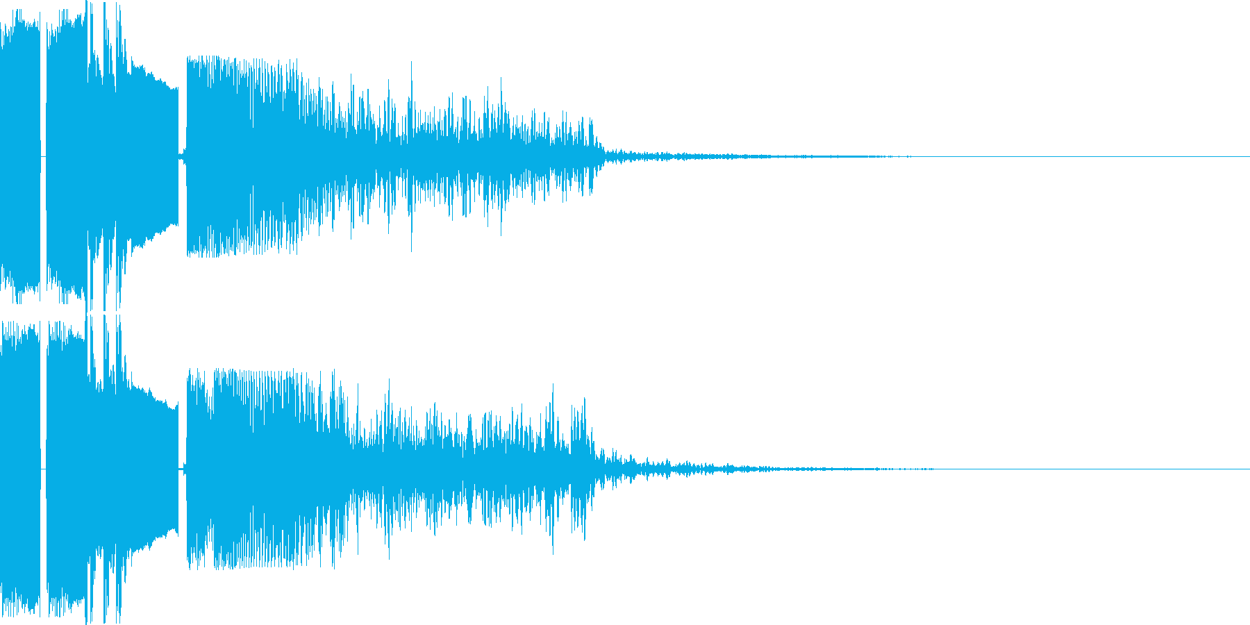 FMジングル制作におすすめの効果音の再生済みの波形