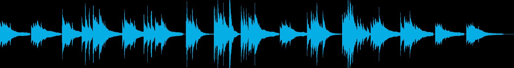 夕暮れリラックス・アコースティックギターの再生済みの波形