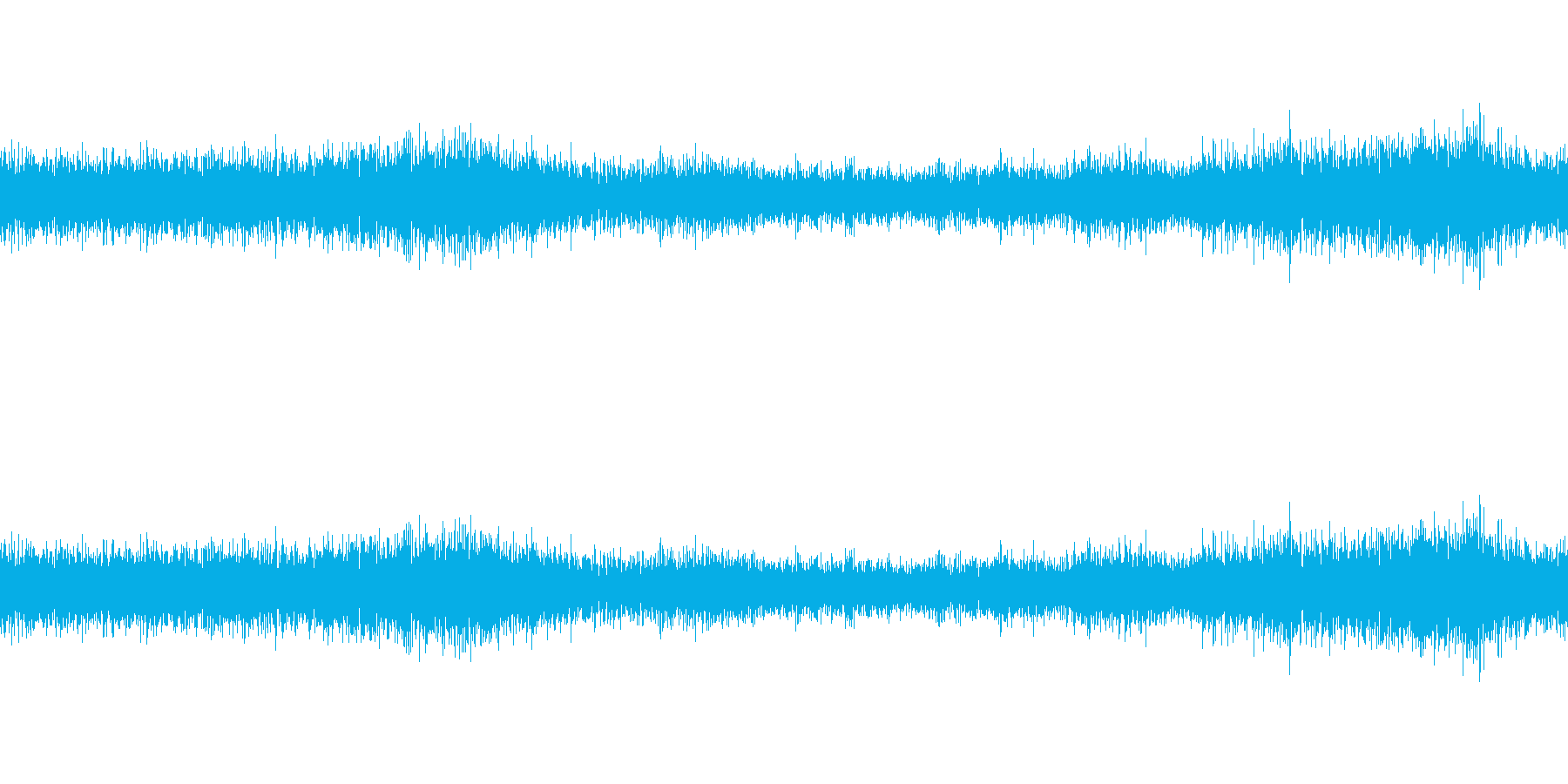 洞窟内の音の再生済みの波形
