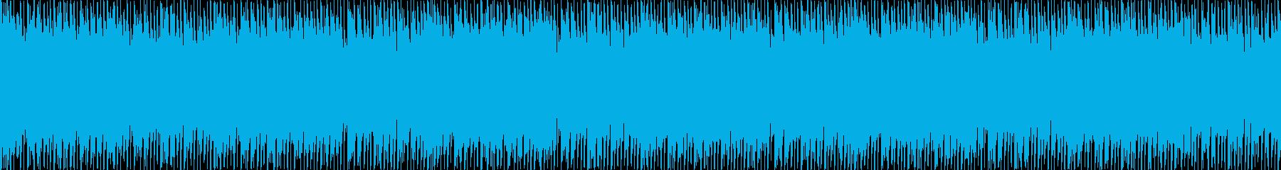 リズミックなポップBGM(ループ)の再生済みの波形