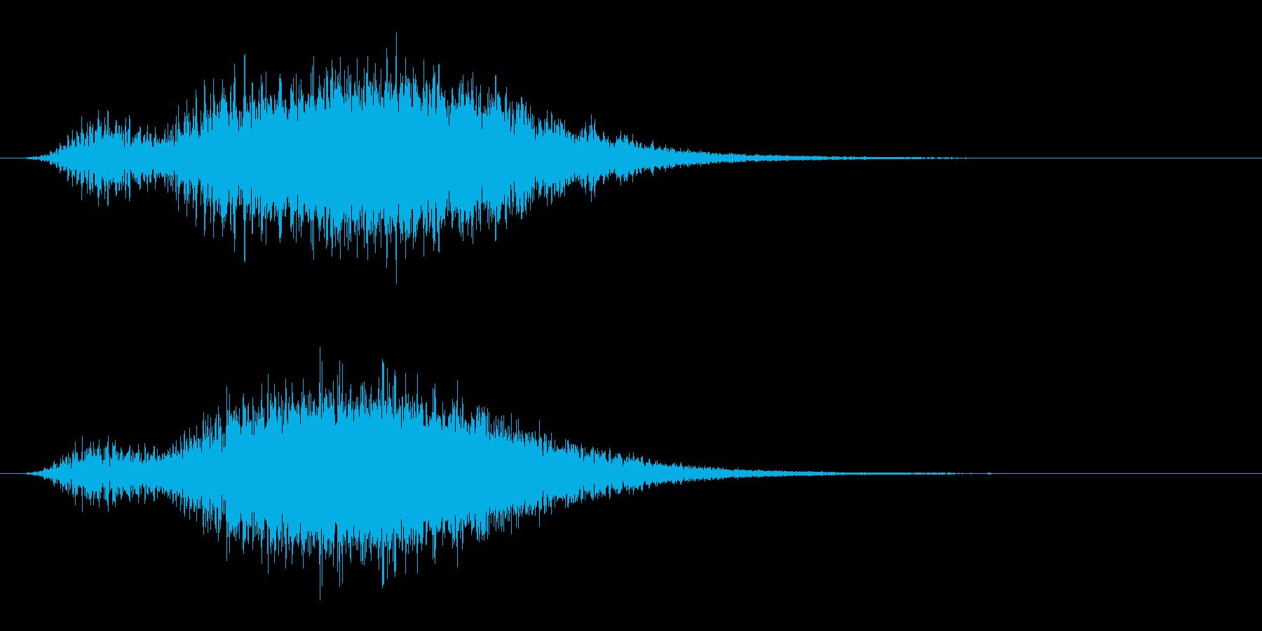 シャープな不気味な怖いロゴの再生済みの波形