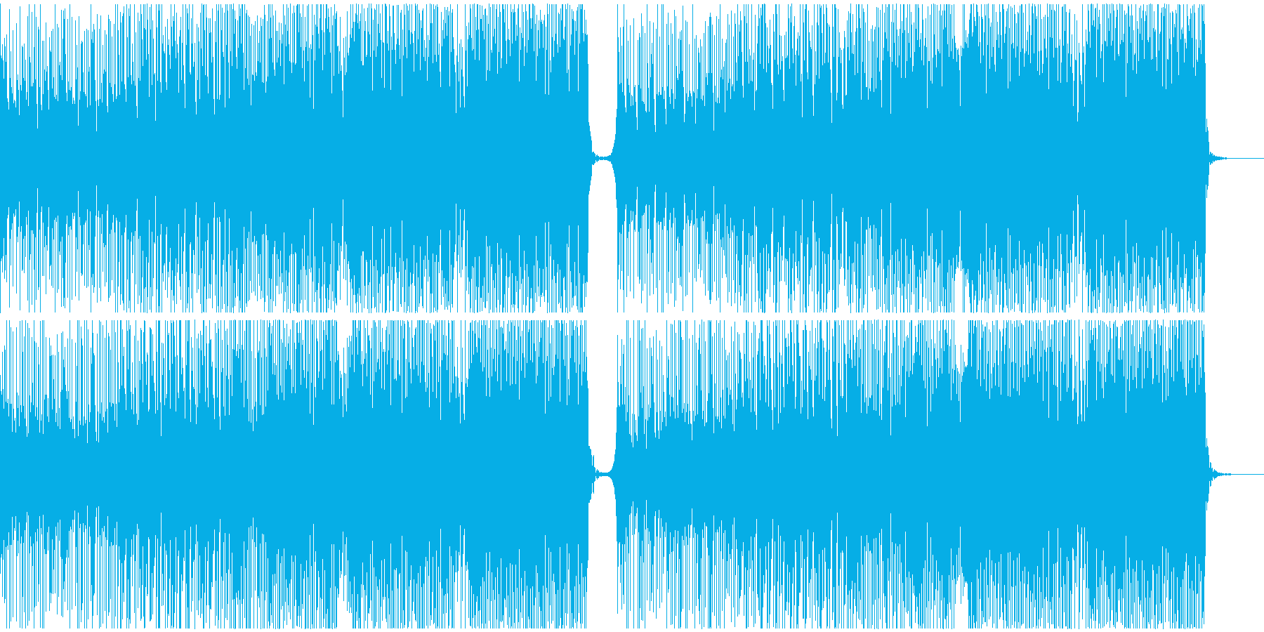 夏っぽいトロピカルハウスの再生済みの波形