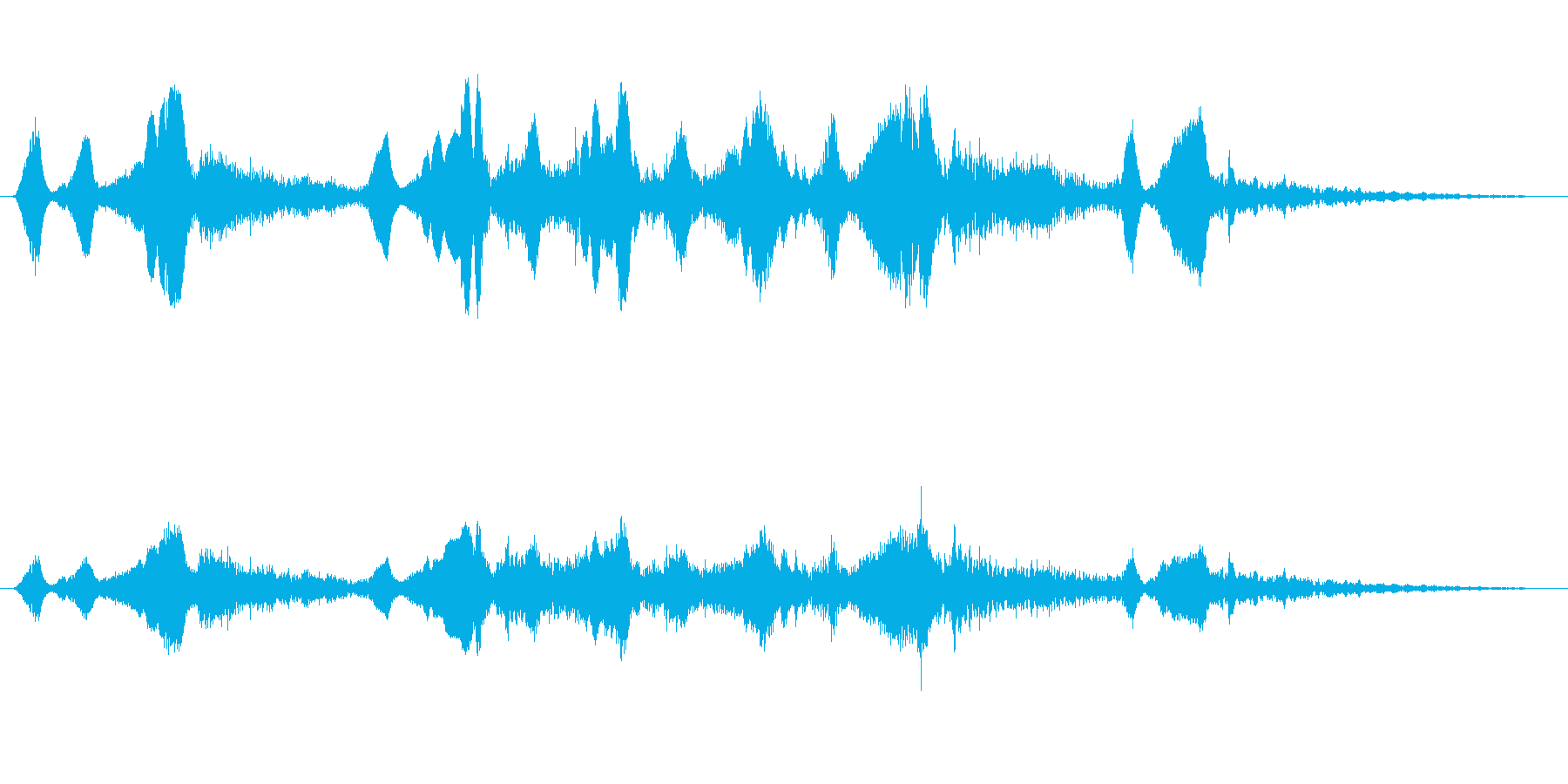 シンセ 巨大な歪みシーケンス02の再生済みの波形