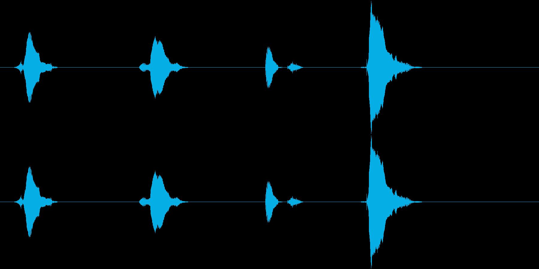 3(さん)・2(に)・1(いち)・GO…の再生済みの波形