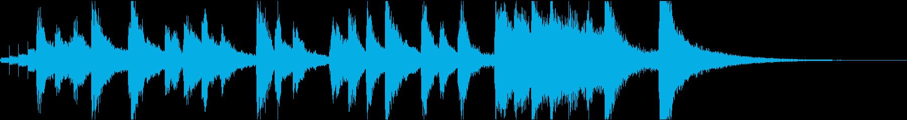ピチカートのかわいいアニメのアイキャッチの再生済みの波形