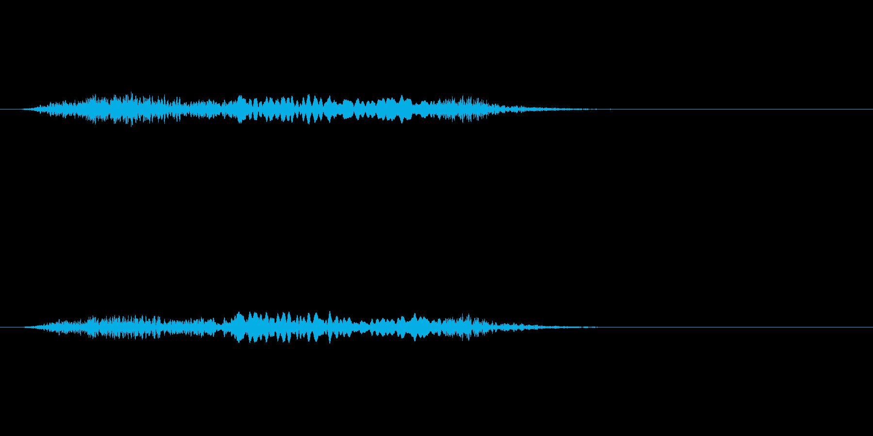 【絶叫 女性01-4】の再生済みの波形