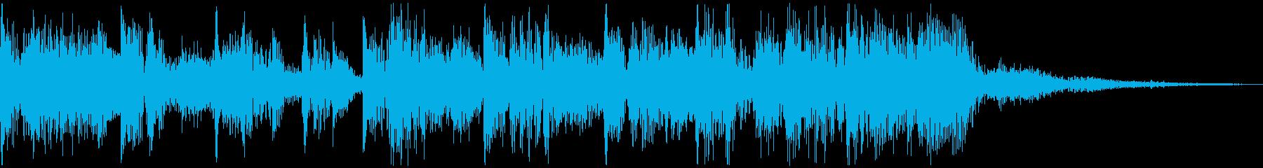 ビートと優しいシンセのジングルAの再生済みの波形