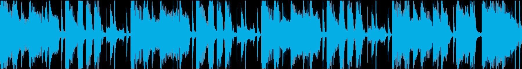 多用途な落ち着いたループBGMの再生済みの波形