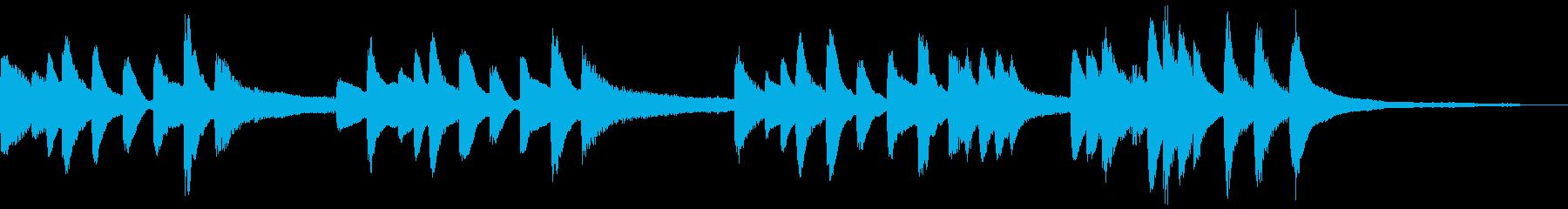 ゲーム向けピアノソロの敗北時BGMの再生済みの波形