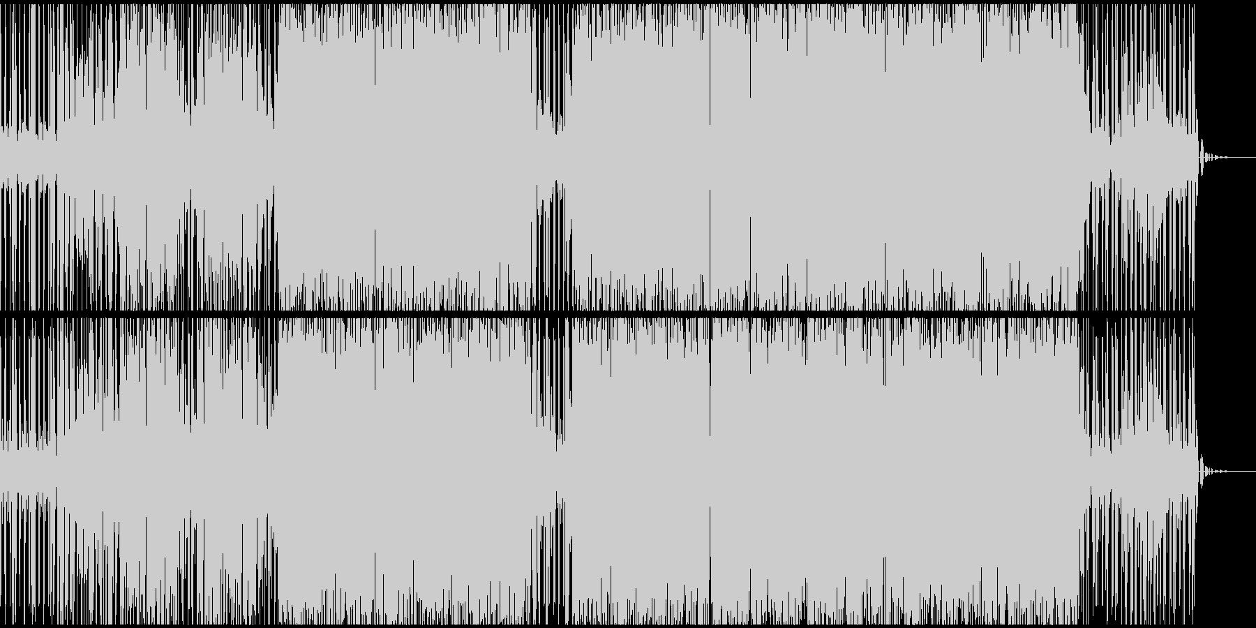音の高低が大きいピアノテクノEDMの未再生の波形