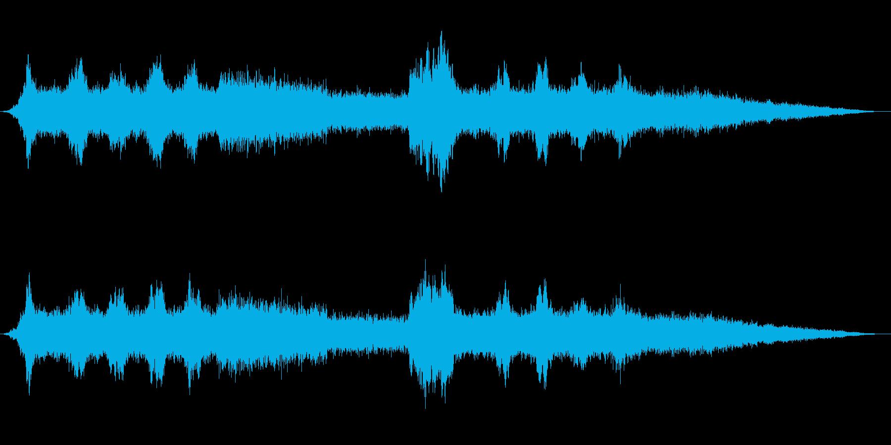 ミ~ンミンミンミ~ン(セミの鳴き声2)の再生済みの波形