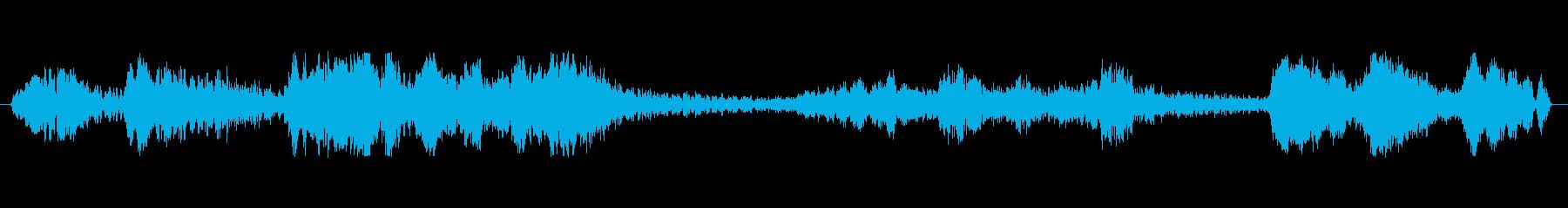 恐竜のうめき声の再生済みの波形