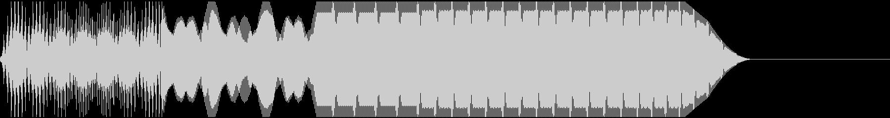 ピキーン(警告/エラー/サイレン/高音の未再生の波形