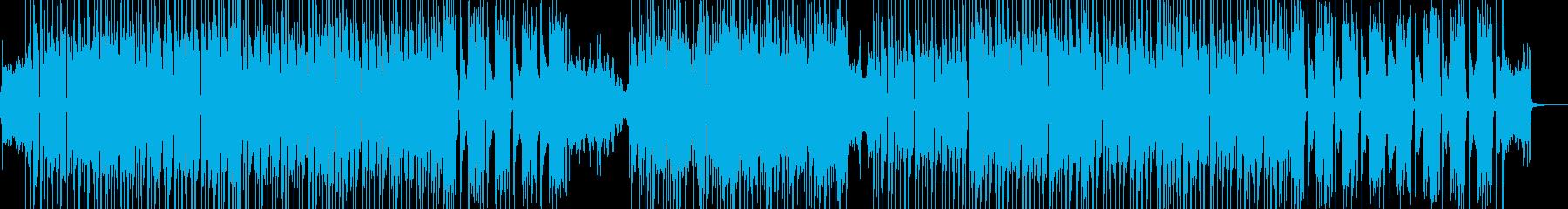 琴・三味線・近未来的で疾走するビートの再生済みの波形