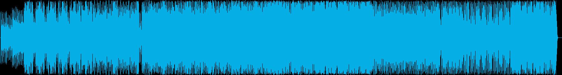ストリングスを使用した半電子音楽の再生済みの波形