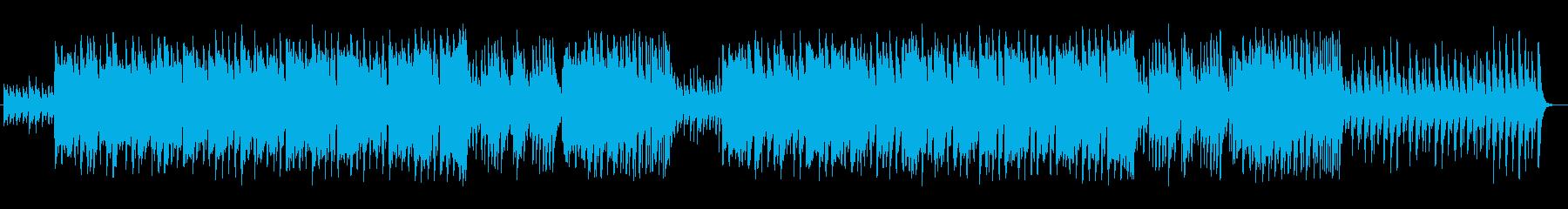 優しく涼しげなシンセサイザーサウンドの再生済みの波形