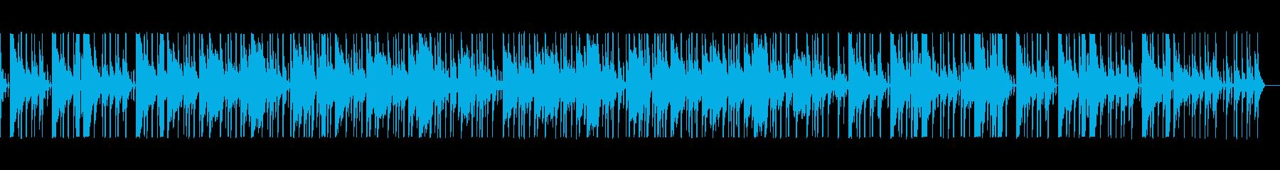 優しいローファイヒップホップの再生済みの波形