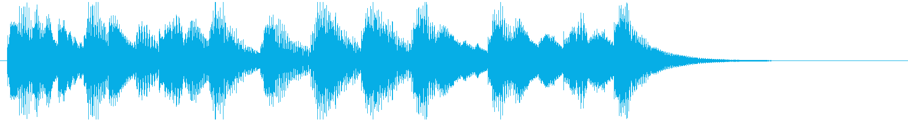 魔法CMハロウィン映像用の怪しく可愛い曲の再生済みの波形