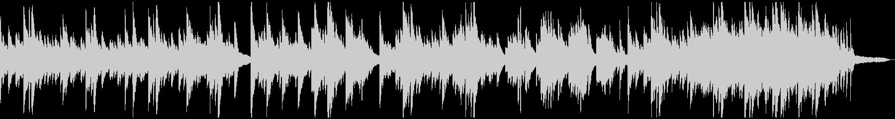 メランコリックな柔らかいピアノソロの未再生の波形