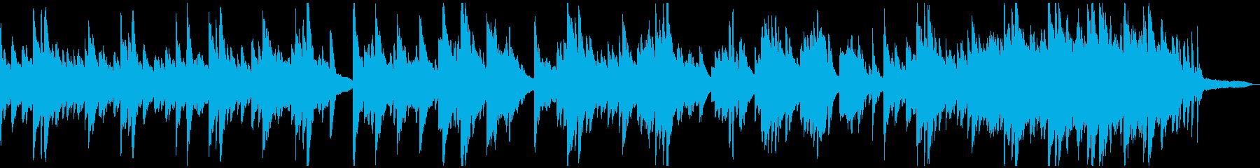 メランコリックな柔らかいピアノソロの再生済みの波形