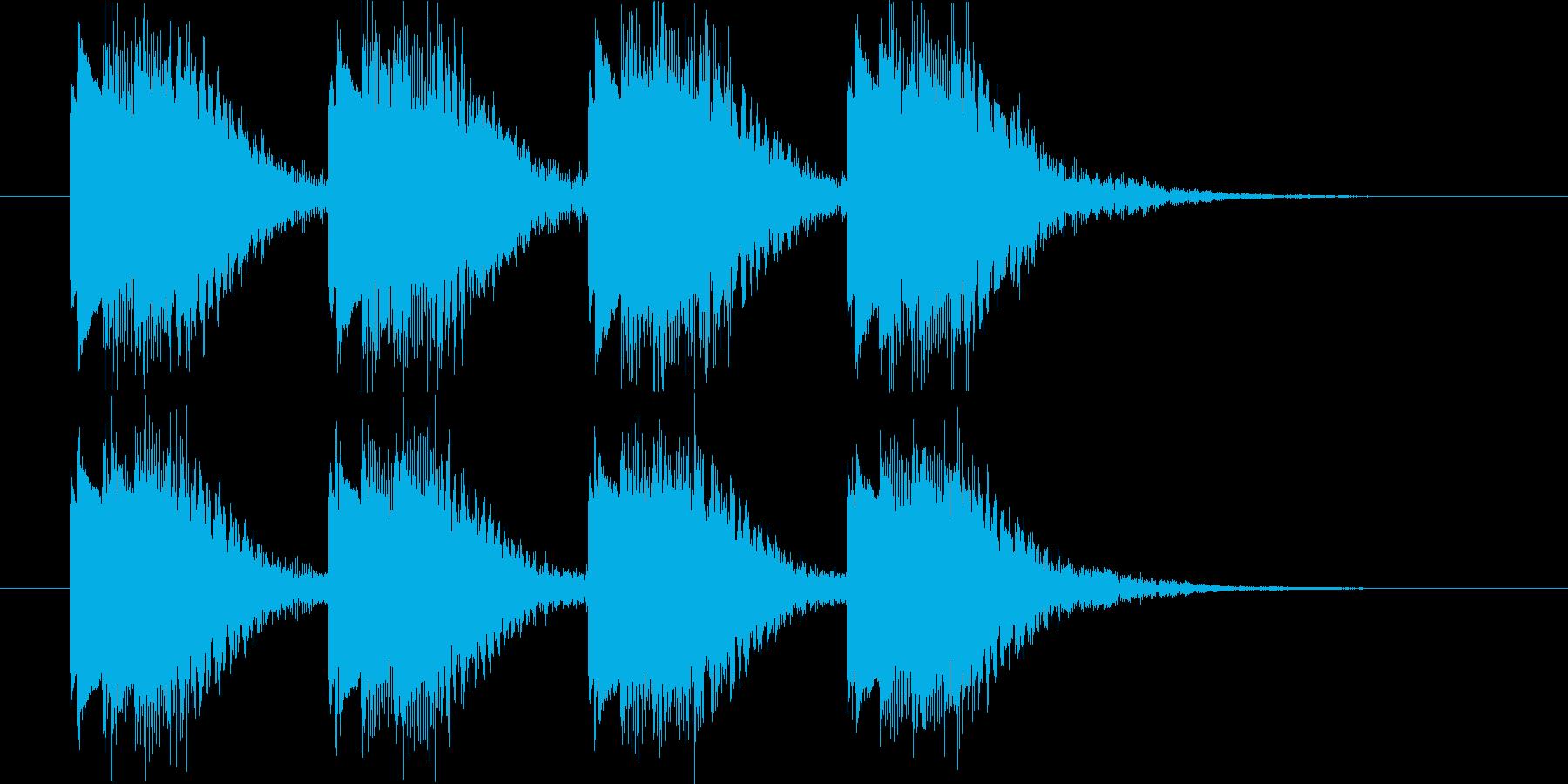 緊急地震速報に少し似た警報音の再生済みの波形