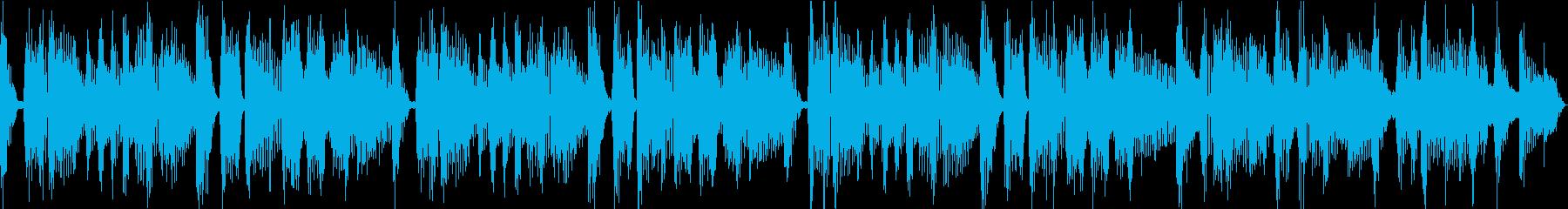 おしゃれなエレピとファンキーなノリの曲の再生済みの波形