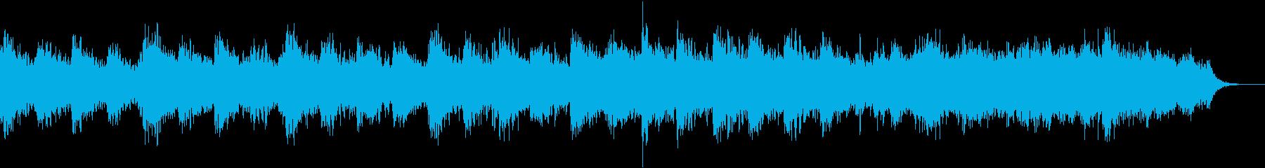 ゆったり安らかな癒し系アンビエントBGMの再生済みの波形