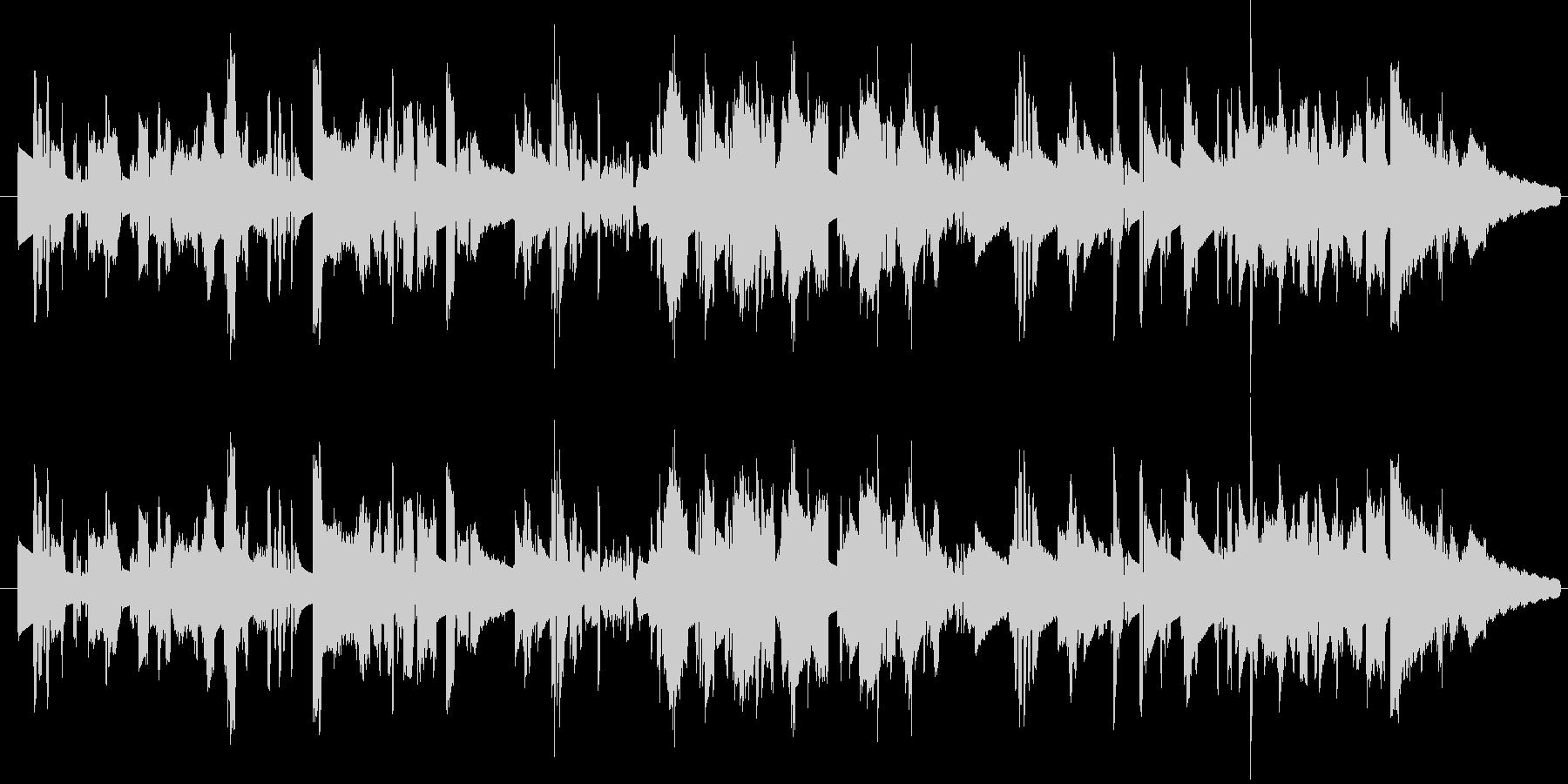 ファンキー エレピソロの未再生の波形
