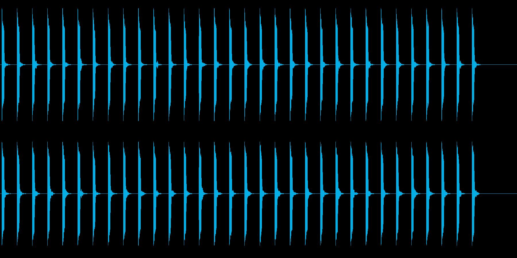 心電図の音-4-4(BPM70)の再生済みの波形