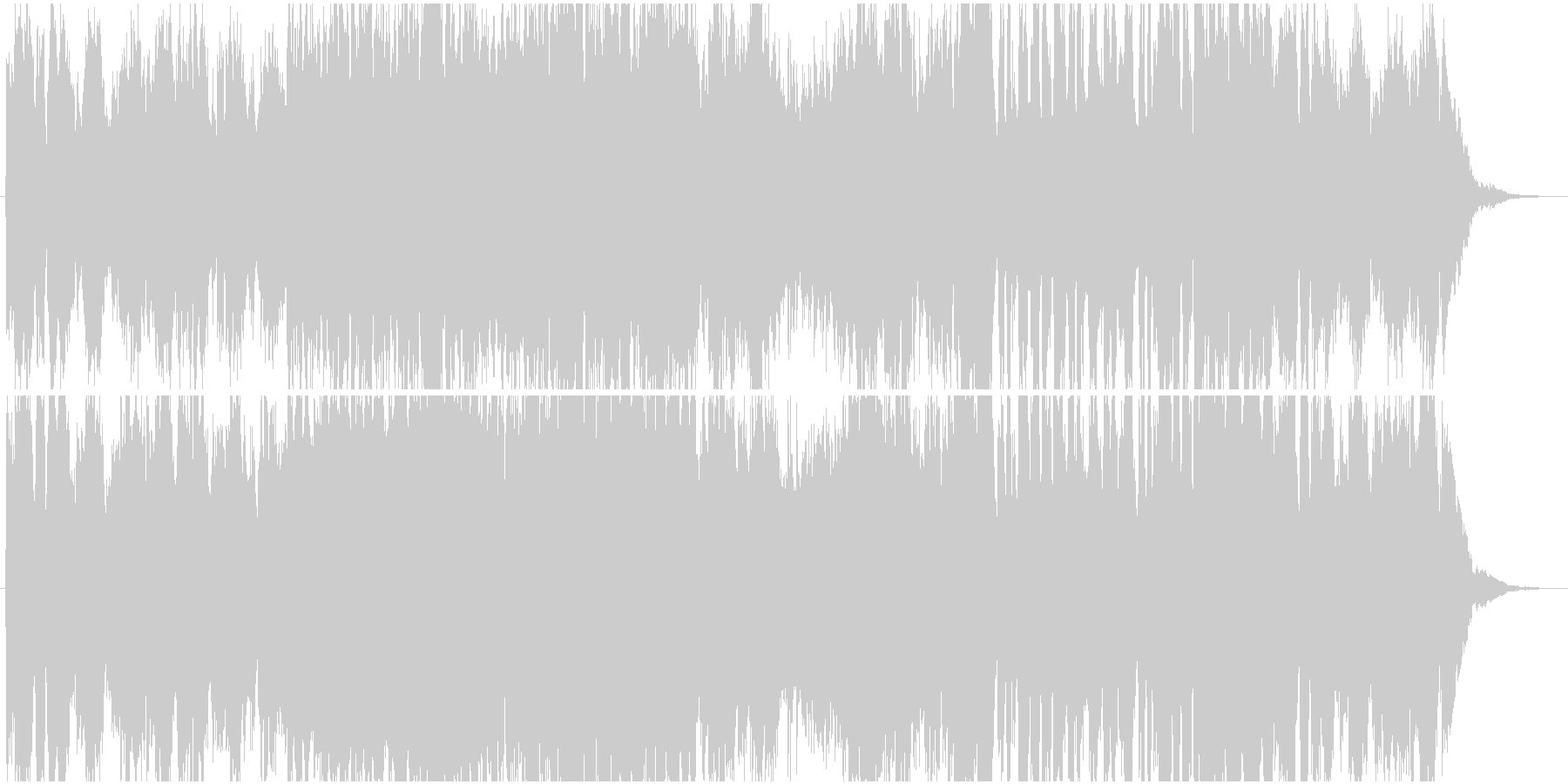 勇壮なオーケストラのダンジョン曲の未再生の波形