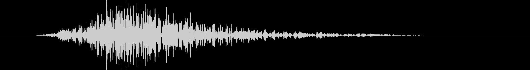 どーん:オープニングロゴなどの締めの音6の未再生の波形