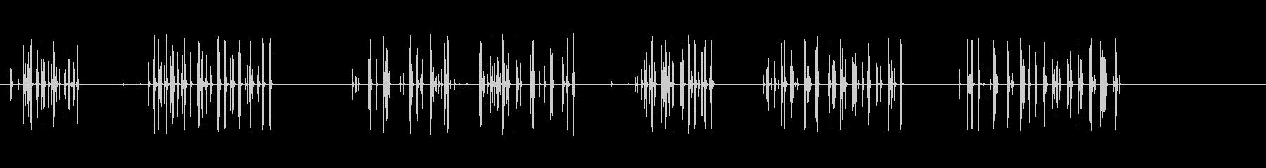 シェイクアンドラトル、さまざまなギ...の未再生の波形