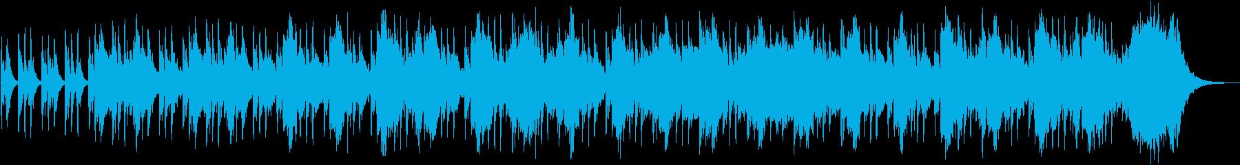 不気味で怪しげなオーケストラ曲の再生済みの波形
