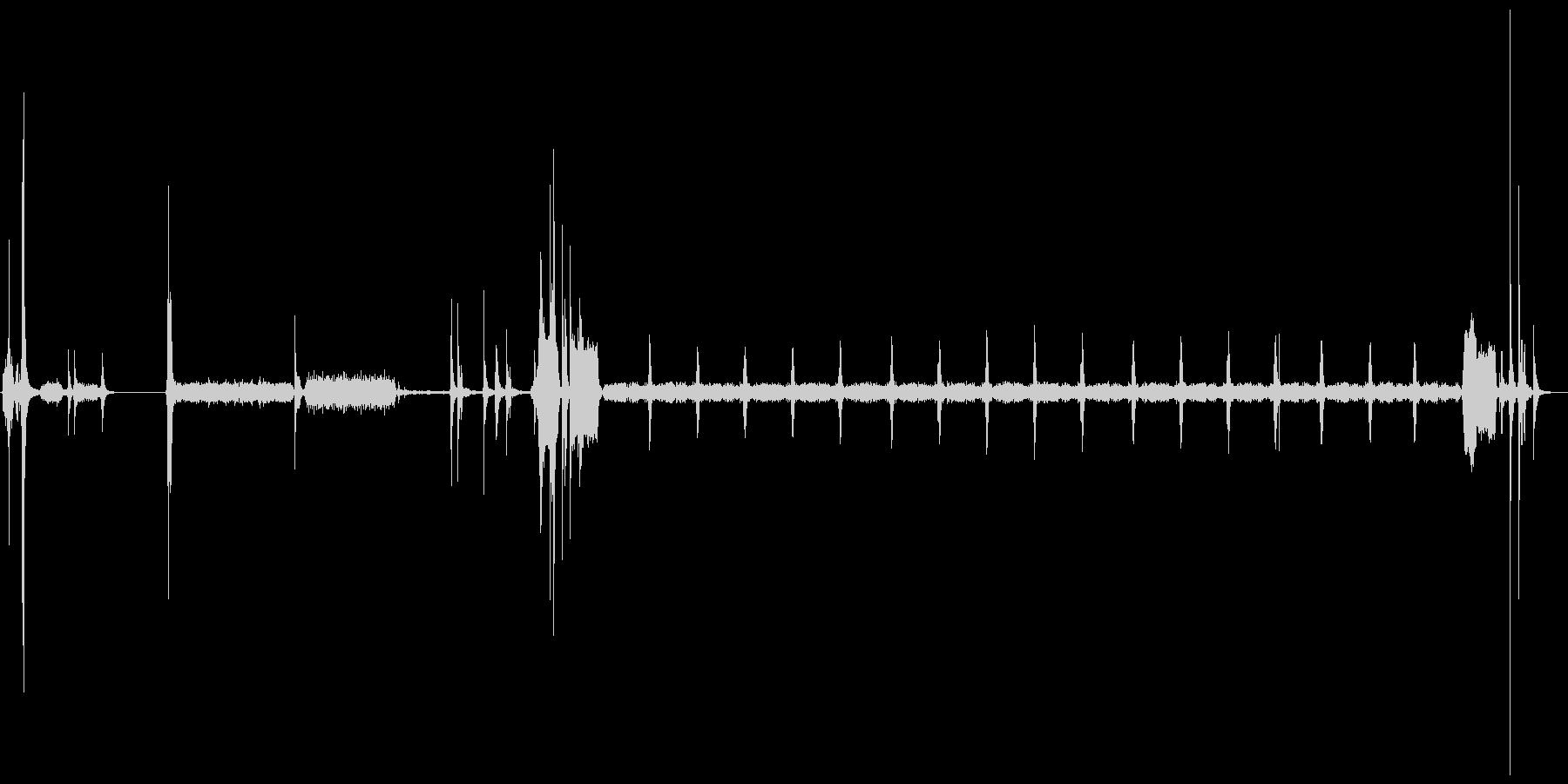 プリンターの印刷音の未再生の波形