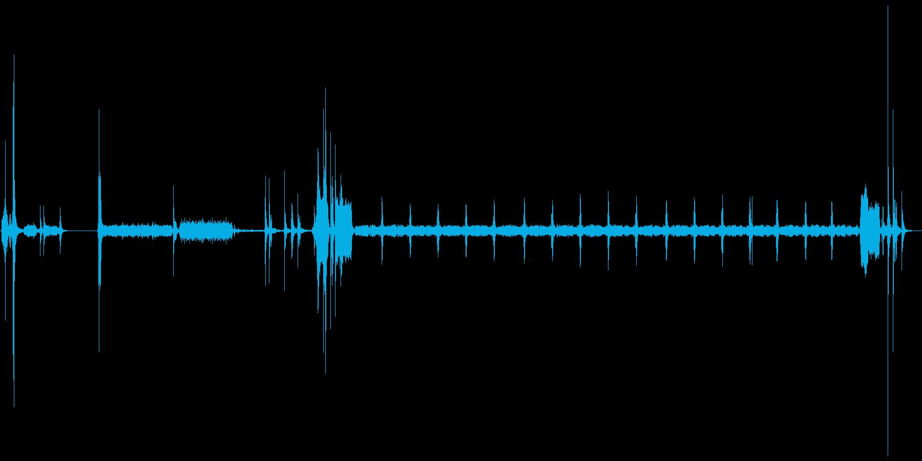 プリンターの印刷音の再生済みの波形