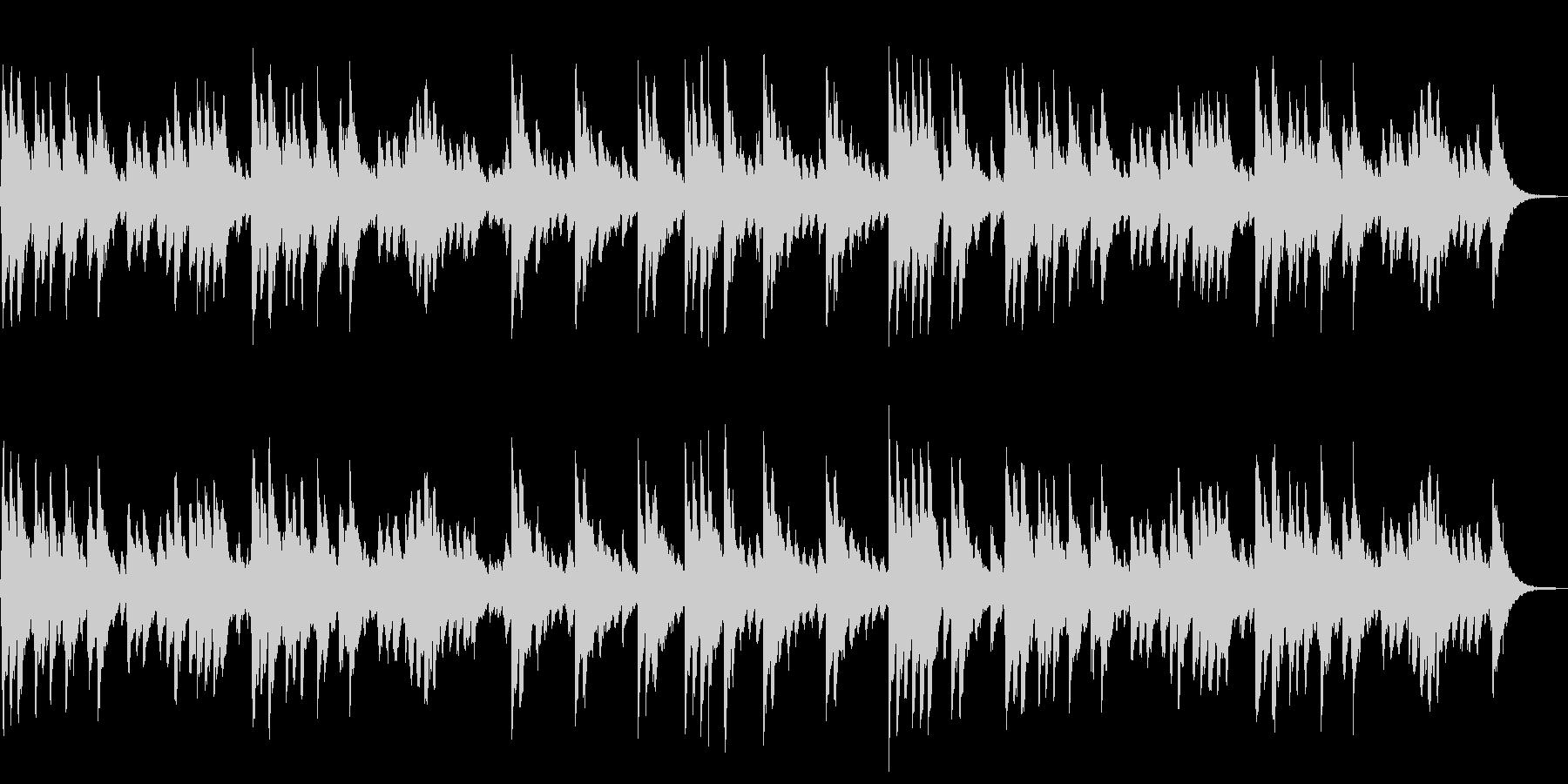 ジングルベル オルゴールと鈴の未再生の波形