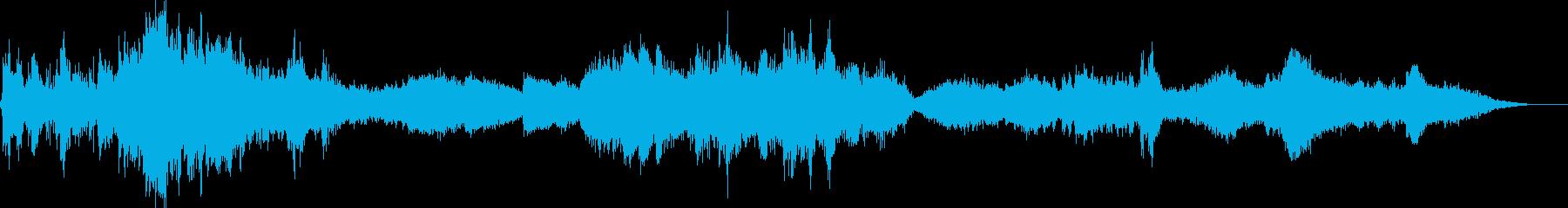 オーケストラ 次々と場面が変わる映像向けの再生済みの波形