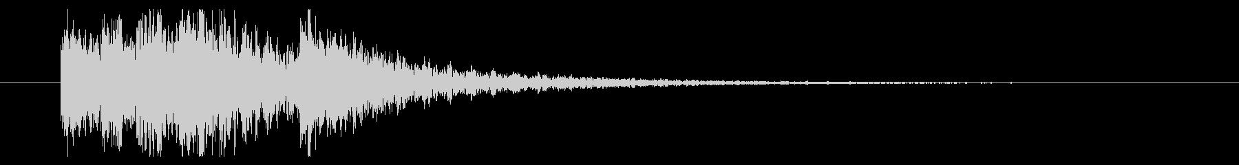 効果音【エラー・失敗・ミス】和風・琴の未再生の波形