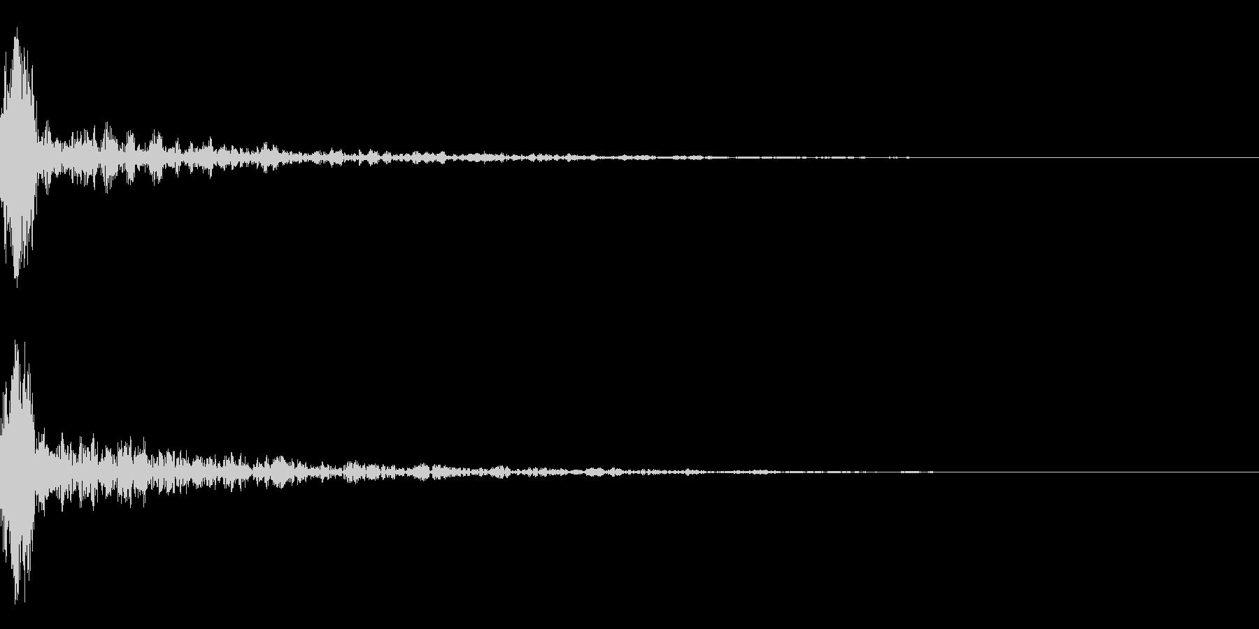 ドーン-14-1(インパクト音)の未再生の波形