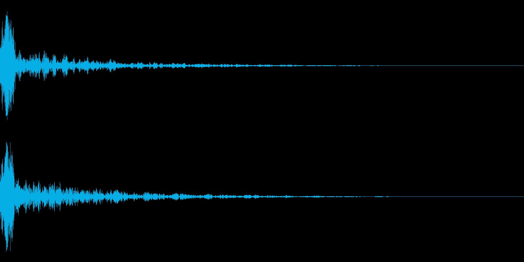 ドーン-14-1(インパクト音)の再生済みの波形