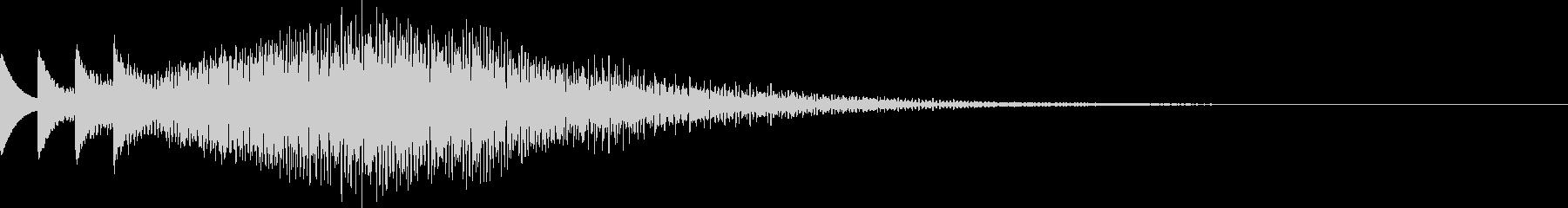 きらびやかな電子音によるサウンドロゴの未再生の波形