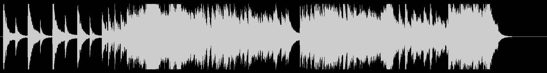 明け方をイメージした曲の未再生の波形