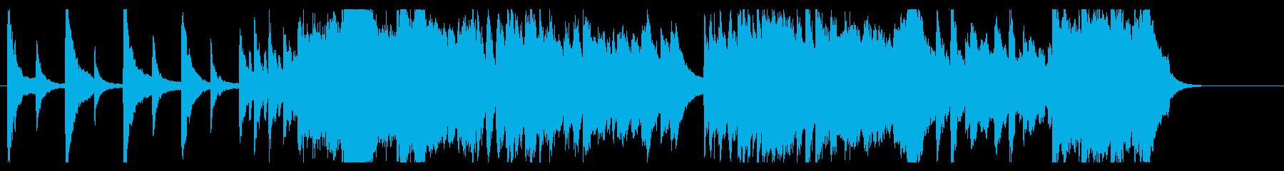 明け方をイメージした曲の再生済みの波形