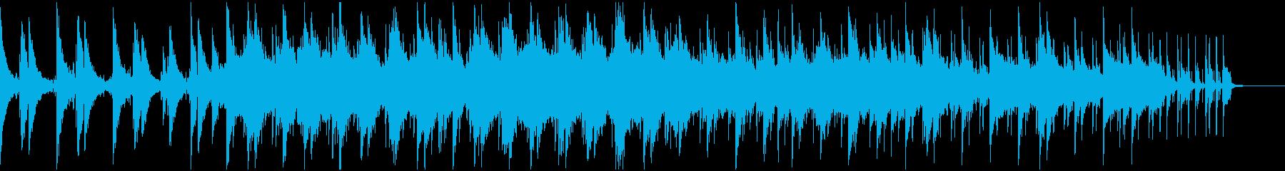 少し物悲しいローファイヒップホップの再生済みの波形